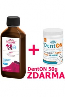 VITAR Veterinae ArtiVit Sirup 200ml+DentON 50g