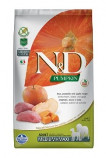 N&D Pumpkin DOG Adult M/L Boar & Apple 2,5kg