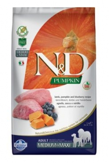 N&D Pumpkin DOG Adult Mini Lamb & Blueberry 800g