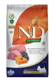 N&D Pumpkin DOG Adult Mini Lamb & Blueberry 7kg
