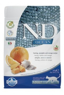 N&D OCEAN CAT Adult Herring, Pumpkin & Orange 300g