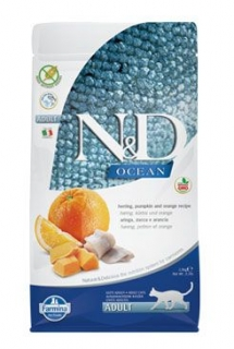 N&D OCEAN CAT Adult Herring, Pumpkin & Orange 1,5kg