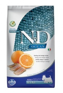 N&D OCEAN DOG Adult Mini Herring & Orange 2,5kg