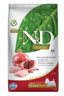 N&D PRIME DOG Adult Mini Chicken&Pomegranat 2,5kg