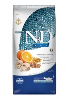 N&D OCEAN CAT LG Adult Codfish & Orange 5kg
