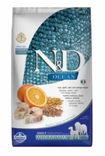 N&D OCEAN DOG LG Adult M/L Codfish & Orange 2,5kg