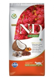 N&D Quinoa CAT Skin & Coat Herring & Coconut 5kg