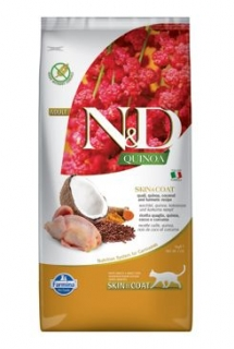 N&D Quinoa CAT Skin & Coat Quail & Coconut 5kg