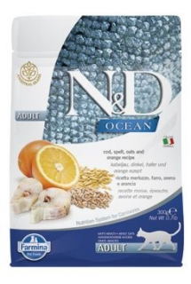 N&D OCEAN CAT LG Adult Codfish & Orange 300g