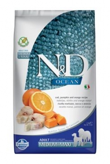 N&D OCEAN DOG Adult M/L Codfish&Pumpkin & Orange 2,5kg